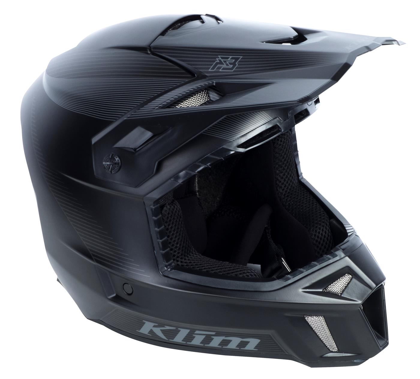 Klim F3 Hjelm - Sort Stealth