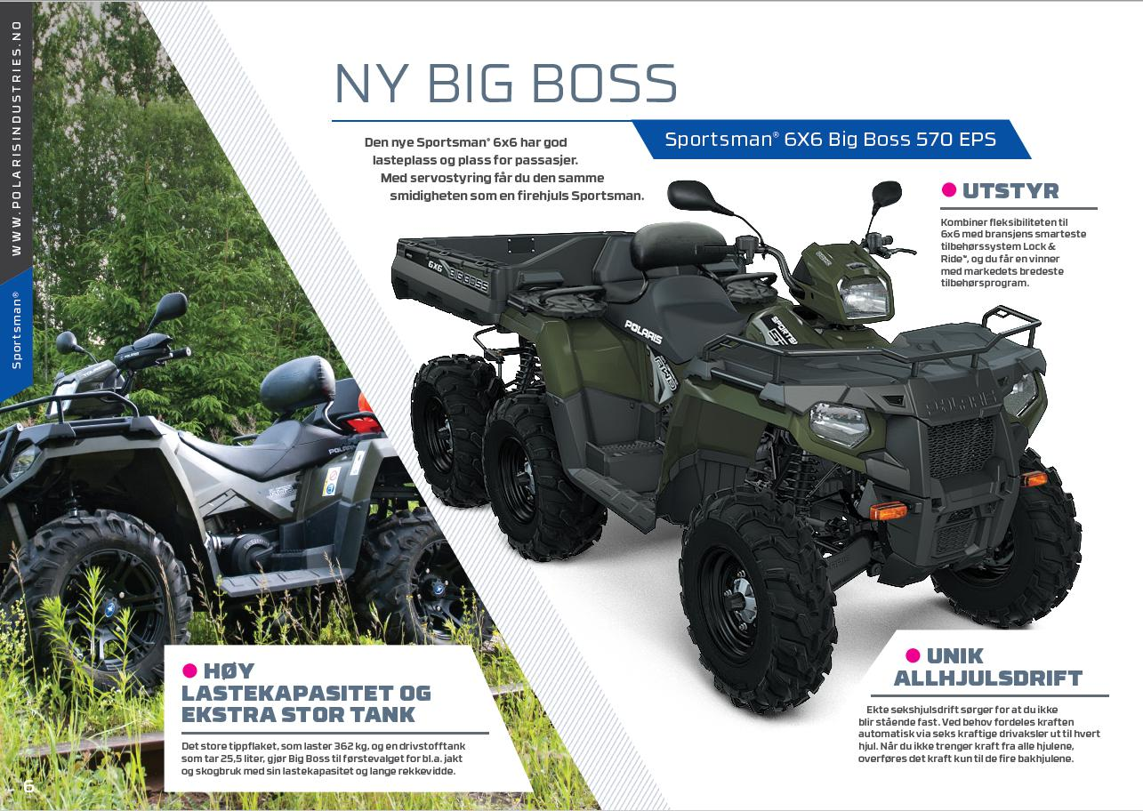 SPORTSMAN 6X6 BIG BOSS 570 EPS