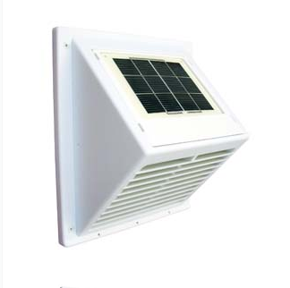 Soldrevet ventilator Minivent med integrert solpanel - sort